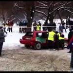 Drifting na śniegu - WYPADEK!