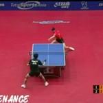 Genialna wymiana akcji - tenis stołowy
