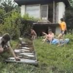 Zabawa na ogródkach działkowych - lata 90-te