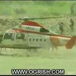 Helikopter w zbiorniku wodnym