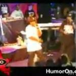 50 Cent wyrzuca Paris Hilton ze sceny!