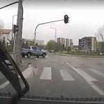 Drift policyjnym wozem w Białymstoku