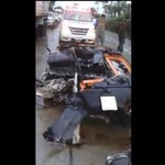 Lamborghini po wypadku - STRASZNE!