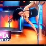 Taniec na rurze w telewizji śniadaniowej
