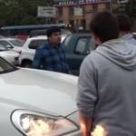 Rosja - piesi vs chamscy kierowcy