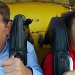 Śmieszna reakcja na rollercoasterze