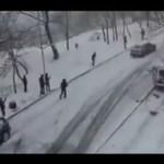 Oblodzona górka w Rosji - MASAKRA!