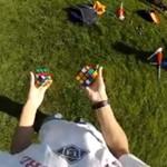 Żonglowanie i układanie kostki Rubika - WOW!