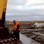 Ruska karuzela na budowie
