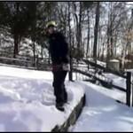 Salto w zimowej scenerii