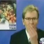 Reporter zgubił zęba