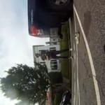 Kierowca i biker wdali się w bójkę