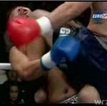 Uderzył przeciwnika kolanem w szczękę