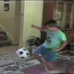 Ojciec chciał mu pokazać, jak powinno się kopać piłkę