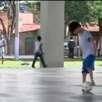 Gra w piłkę, chociaż nie posiada stóp!