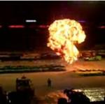 Eksplozja podczas pokazu