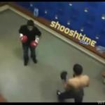 Rozgrzewka przed wyjściem na ring