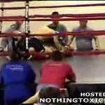Nokaut na amatorskim meczu MMA