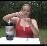 Cola, Mentosy, kondomi blondynka