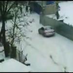 Zimowy poranek w Rosji