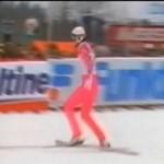Latanie na nartach 30 lat temu