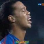 Ronaldinho płacze po meczu