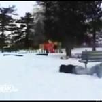 Snowboardzista kontra ławka - AUĆ!!!