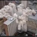Implozja w centrum miasta