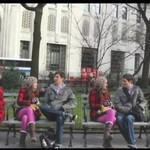 4 pary czworaczków - flashmob!