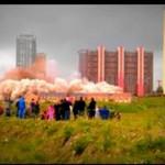 Wyburzanie budynku - masywna implozja!