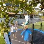 Wypadek na trampolinie - GoPro