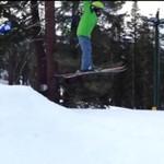 Pierwsza próba skoku na nartach