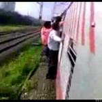Mężczyzna NIE UTRZYMAŁ SIĘ na pędzącym pociągu!