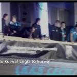 Kibice śpiewają piosenkę o Legii