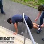 Nieudany planking - zaklinował się!